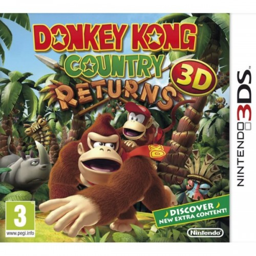 Donkey Kong Country Returns 3D - Nintendo 3DS (Be dėžutės)