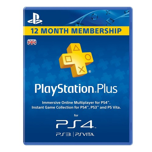 12 mėnesių PSN PLUS kodas UK