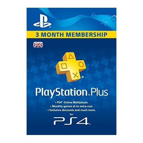 3 mėnesių PSN PLUS kodas UK