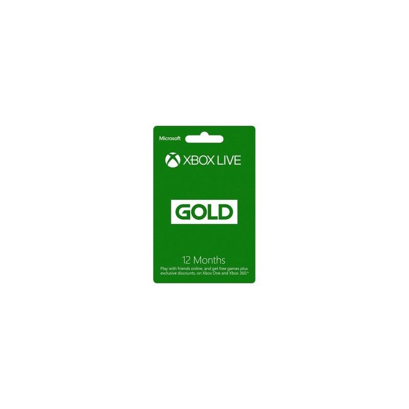 12 mėnesių XBOX LIVE GOLD kodas UK
