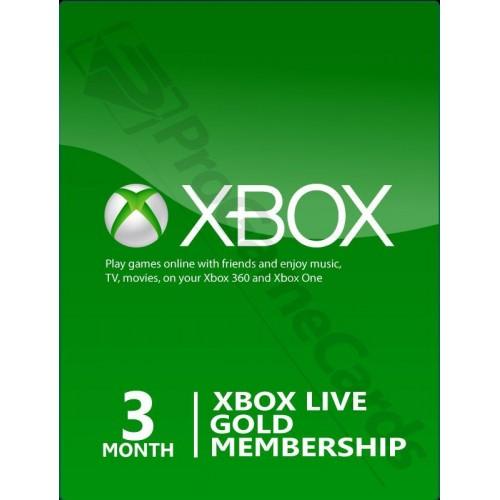 3 mėnesių XBOX LIVE GOLD kodas UK