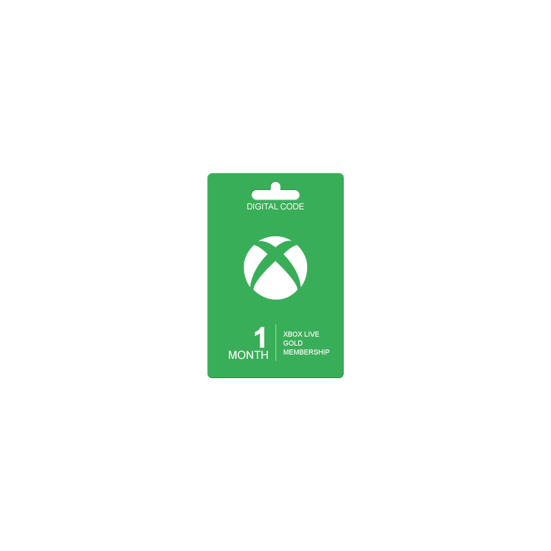 1 mėnesio XBOX LIVE GOLD kodas UK